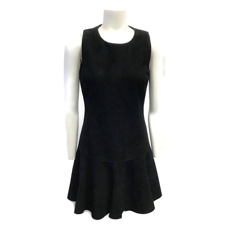 Rachel Zoe Black Suede Flare Dress