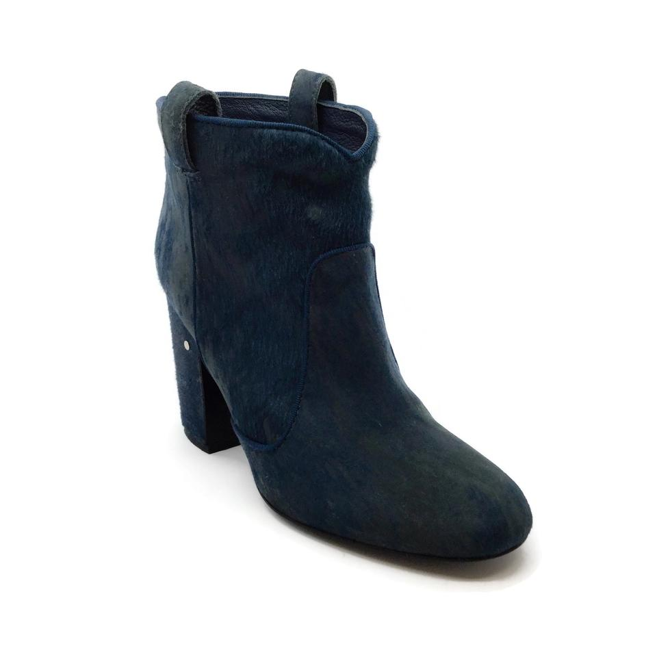 Laurence Dacade Navy Blue Distressed Pony Boots