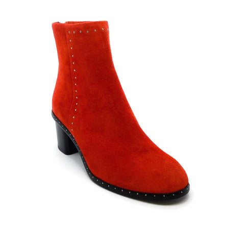 Rag & Bone Red Suede Willow Stud Boots