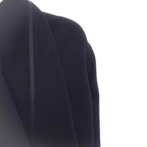 Rick Owens Black Draped Wool Cape