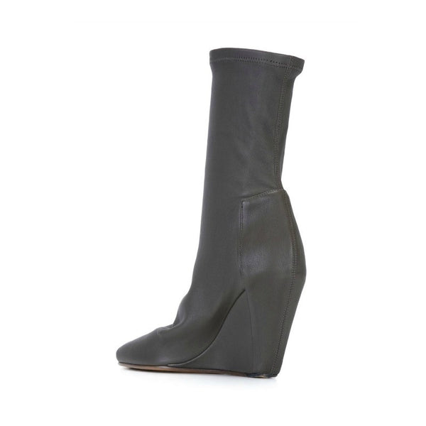 Stretch Wedge Dark Dust Booties by Rick Owens back