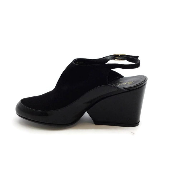 Robert Clergerie Black Thilan Slingback Wedges