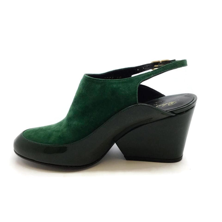 Robert Clergerie Green Thilan Slingback Wedges