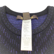 Roberto Cavalli Sapphire/Black Sparkle Knit Dress