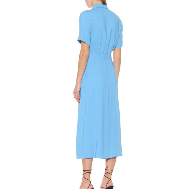 Rochas Blue Cadi Stretch-knit Dress