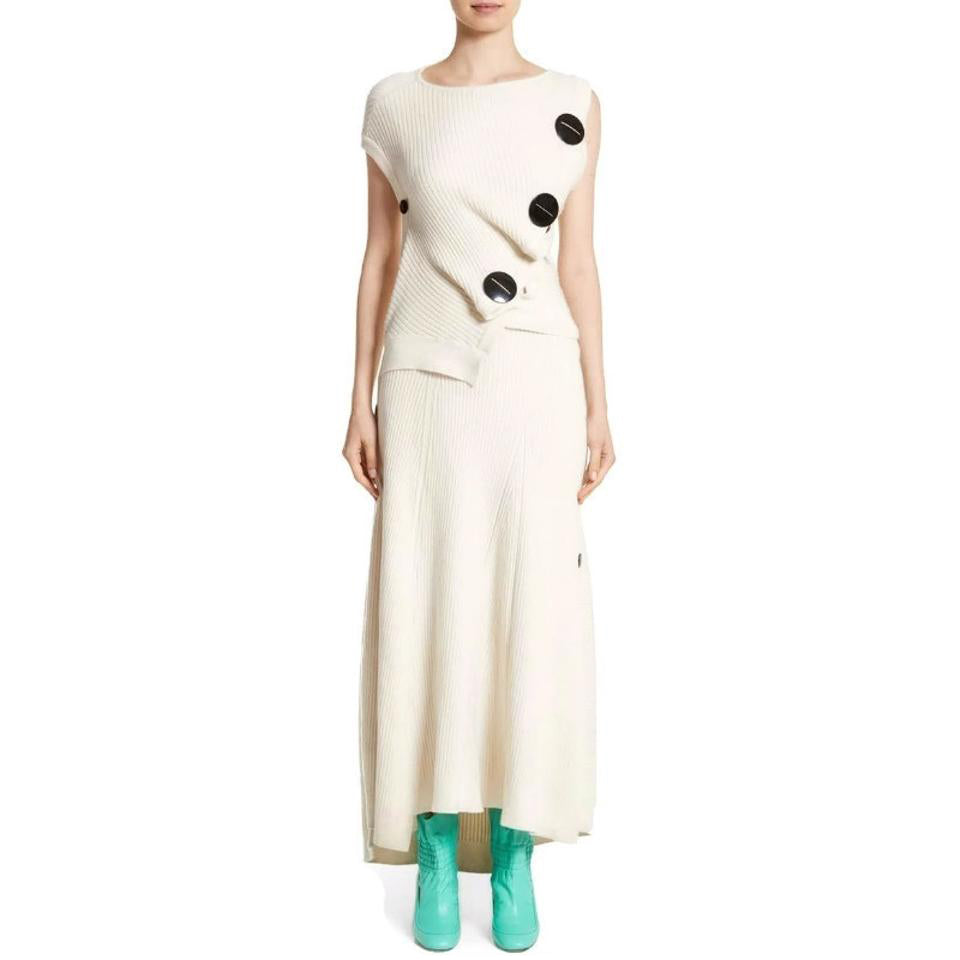 Roksanda Ivory Idris Sweater Dress