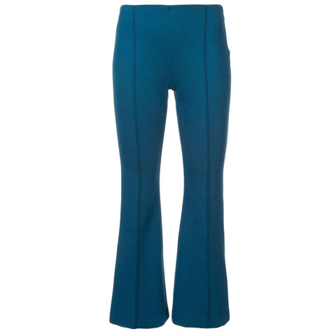 Rosetta Getty Teal Flared Hem Pants