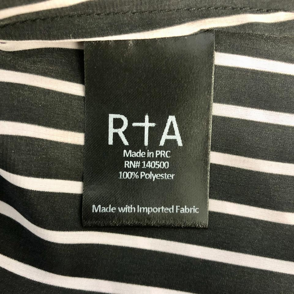 RtA Black and Pink Sinead Blouse