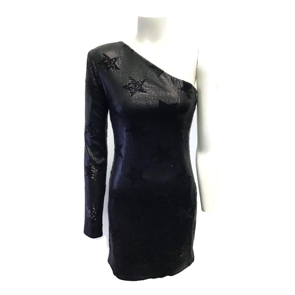 RtA Black Edie Sequin Dress