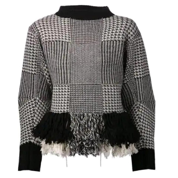 sacai Ball Chain Black / Ivory Sweater