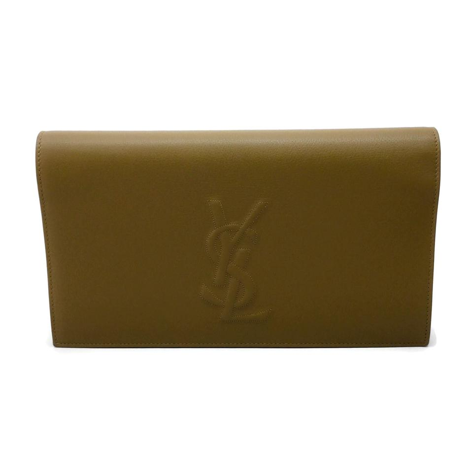 Saint Laurent Bell De Jour Tan Leather Clutch