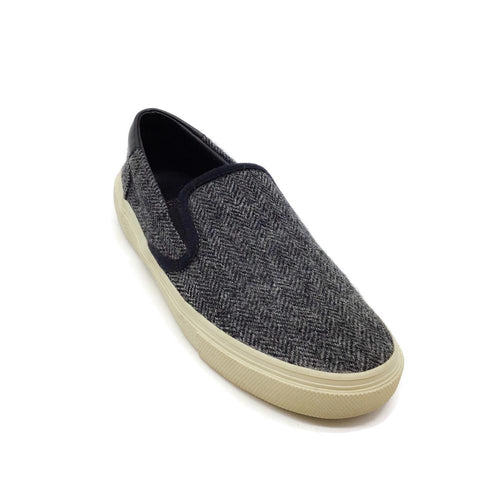 Saint Laurent Grey Wool Herringbone Sneakers