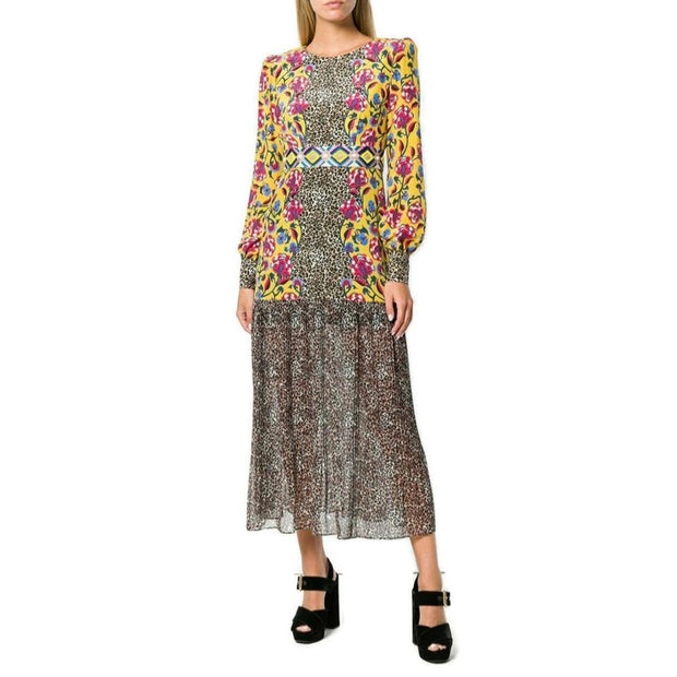 SALONI Leopard Print/Multi Multicolored Casual Maxi Dress