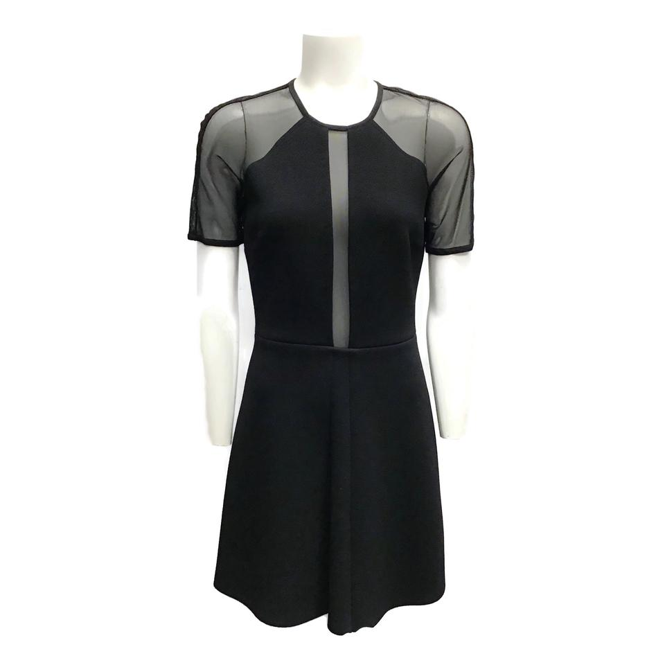 Sandro Black Mesh Dress