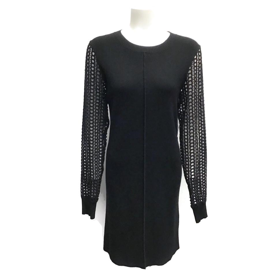 See by Chloé Black Open Knit Dress