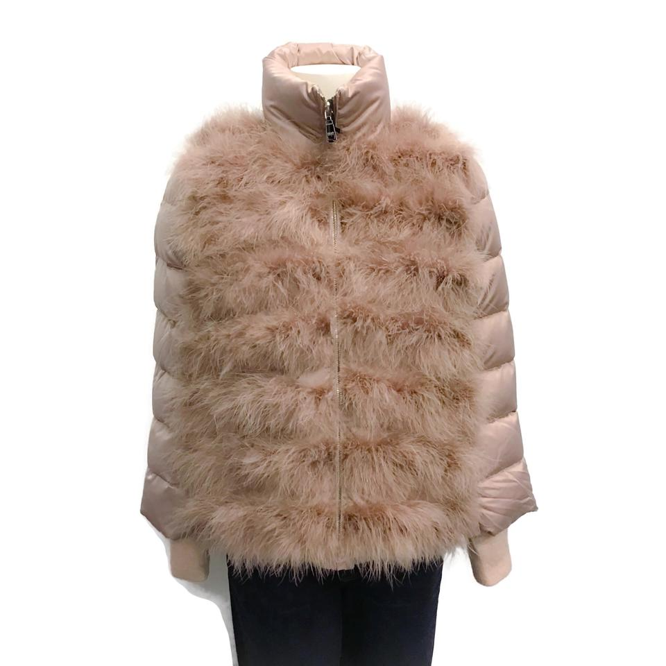 SEVENTY Blush Marabou Down Coat