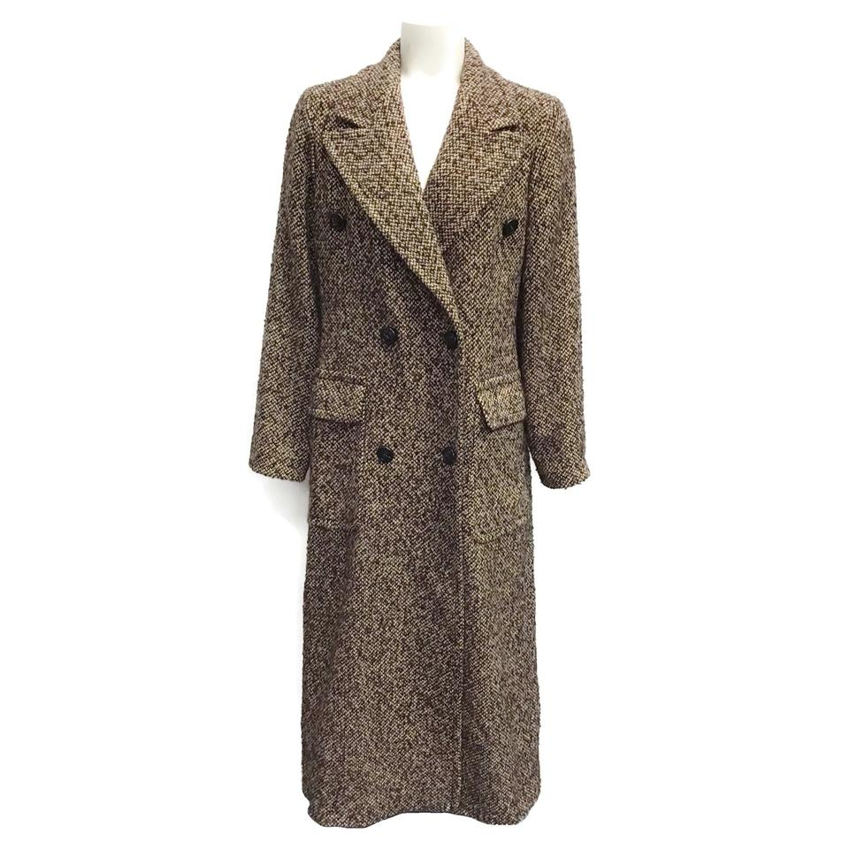 SEVENTY Brown/Tan Notch Collar Tweed Coat