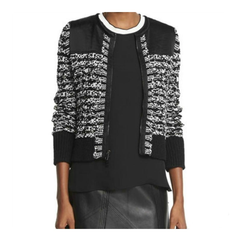 Rag & Bone Viola Black/White Sweater Jacket