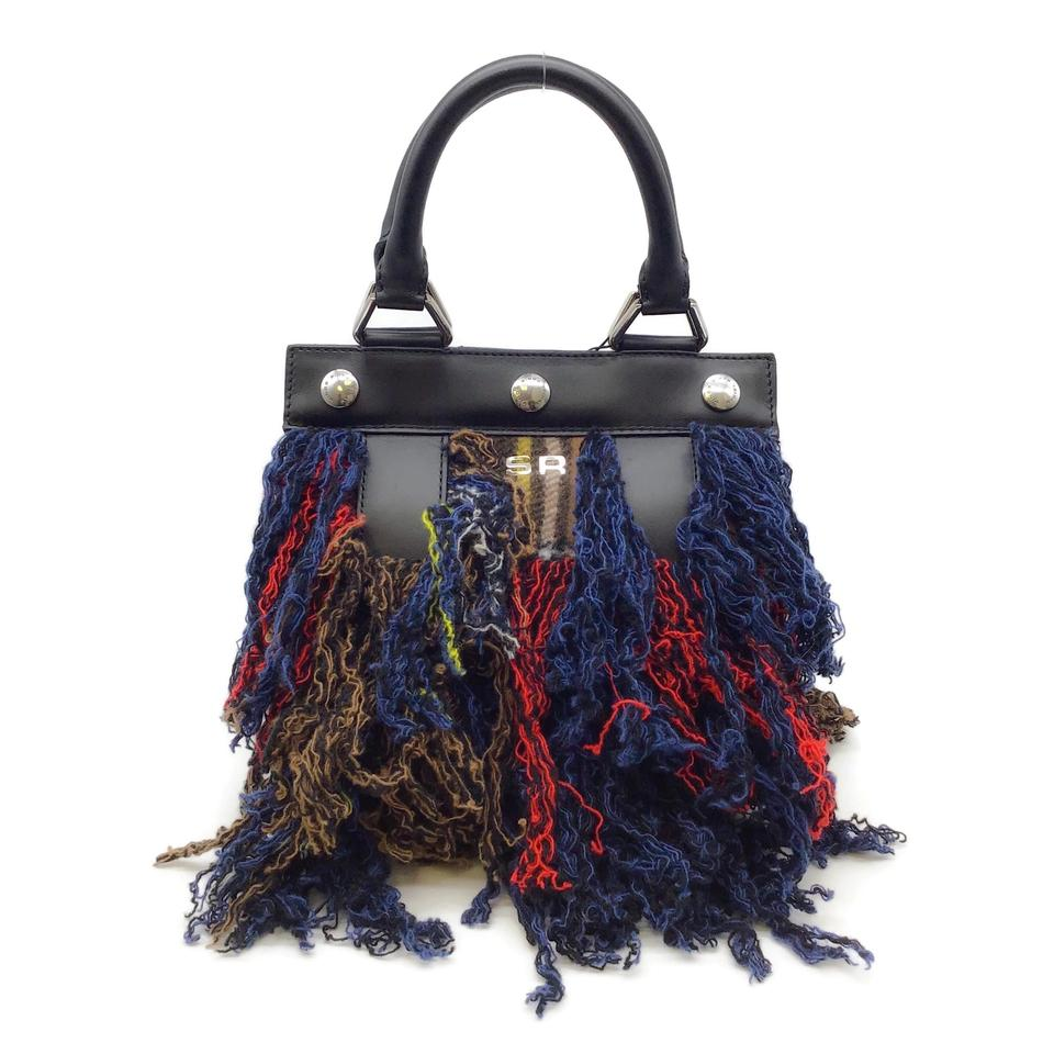 Sonia Rykiel Cindy Multicolor Leather/Cashmere Baguette