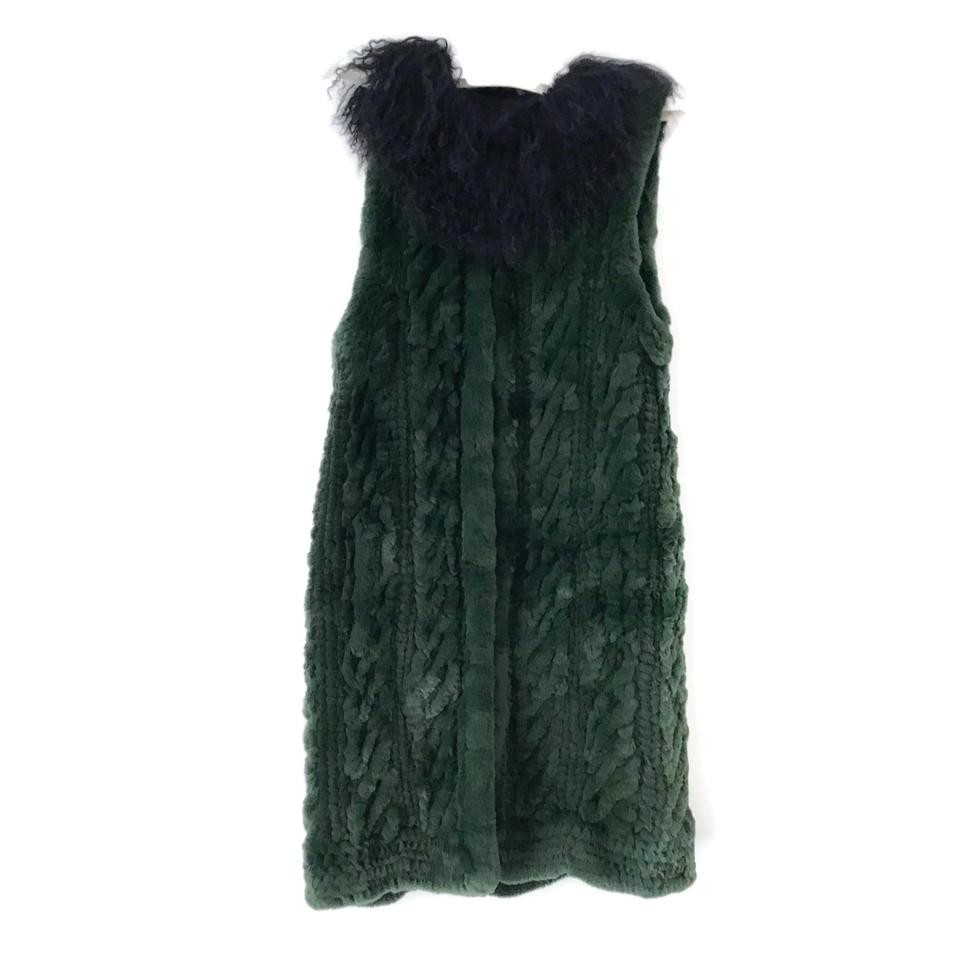 Sonia Rykiel Green Rabbit/Lamb Vest