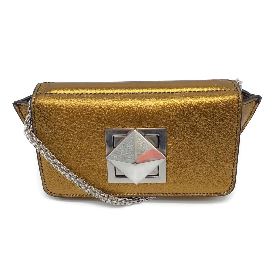 Sonia Rykiel Metallic Bronze Leather Cross Body Bag