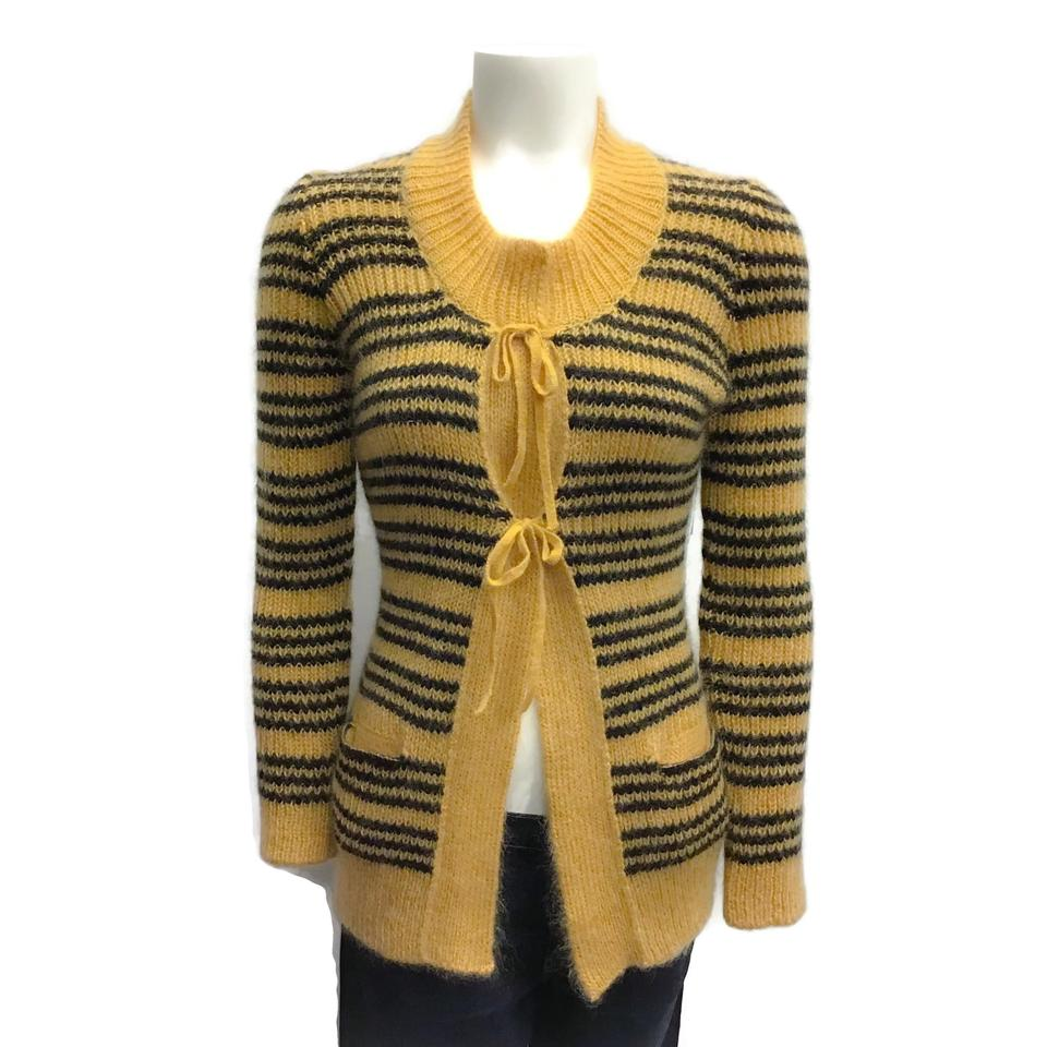 Sonia Rykiel Mohair Stripe Gold/Black Sweater