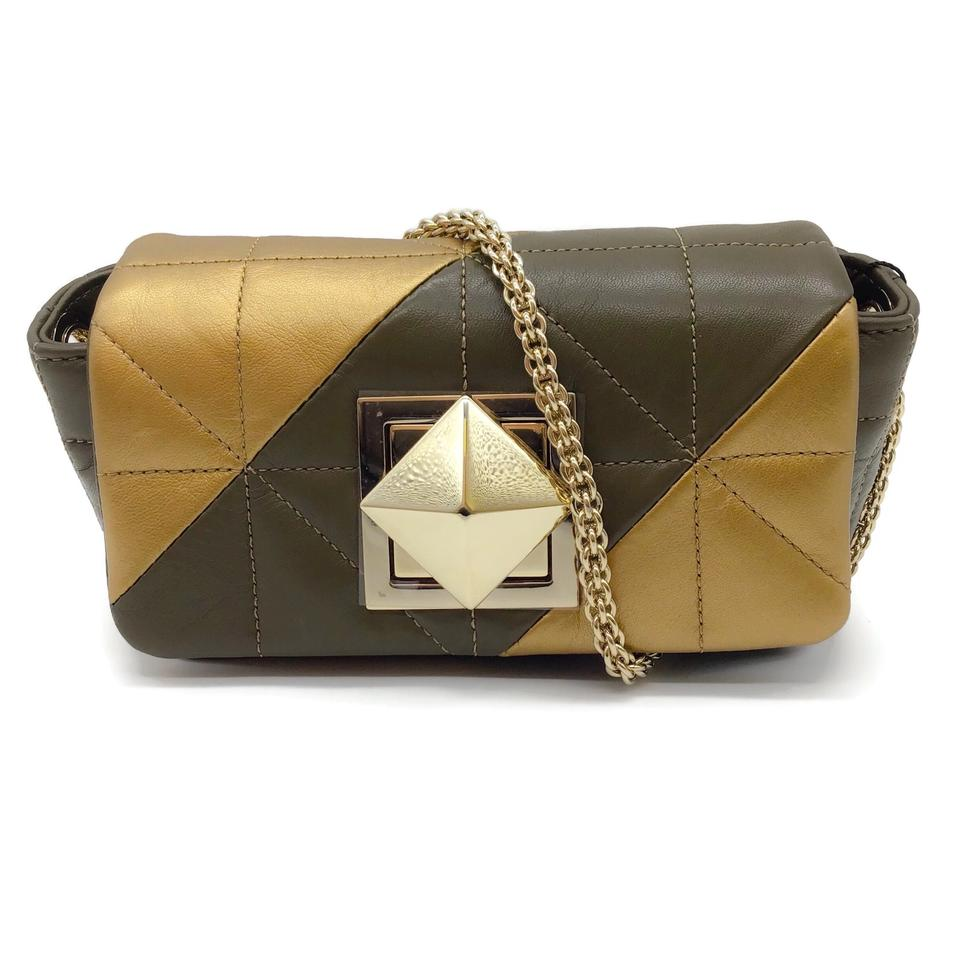 Sonia Rykiel Quilted Bronze Leather Shoulder Bag