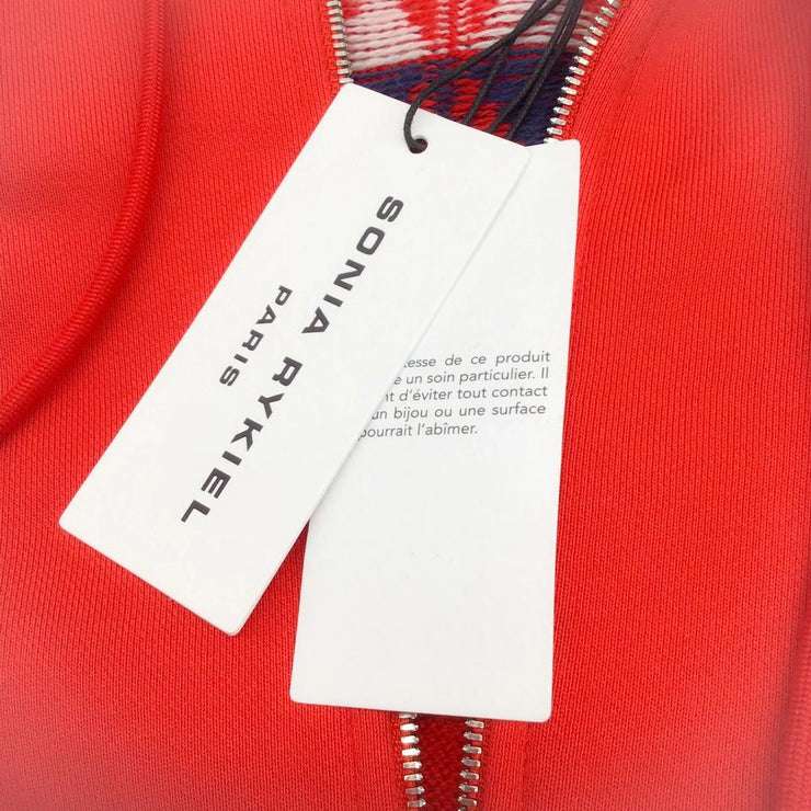 Sonia Rykiel Red Multi Hooded Cape