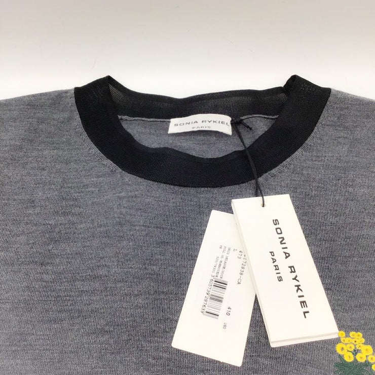 Sonia Rykiel Wool Grey/Black Sweater