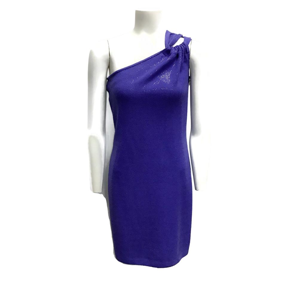 St. John Purple One-shoulder Dress