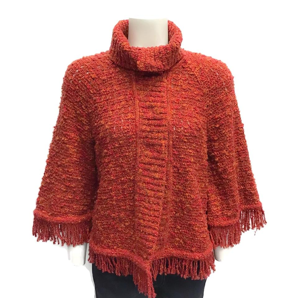 St. John Tweed Red/Orange Sweater