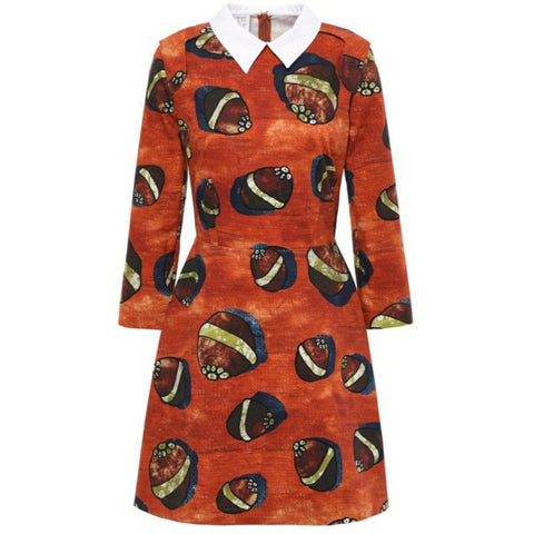 Stella Jean Orange / Multi Print Dress