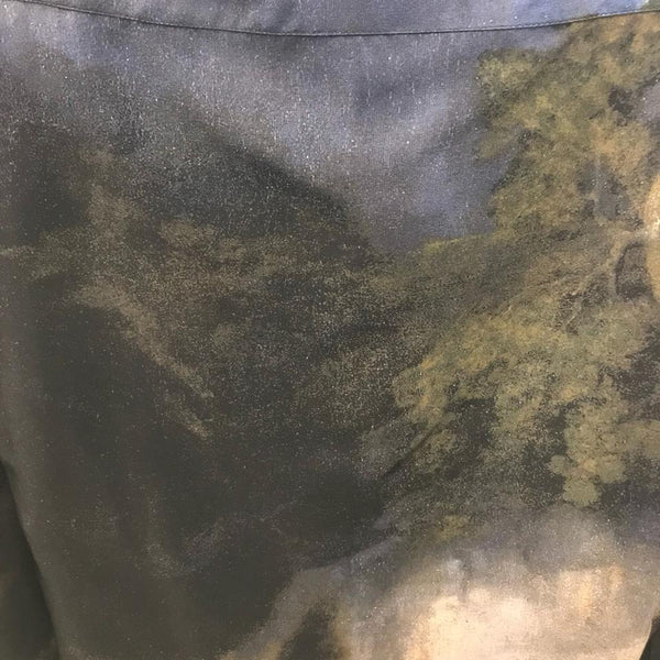 Stella McCartney Blue/Brown/Green Art Inspired Blouse