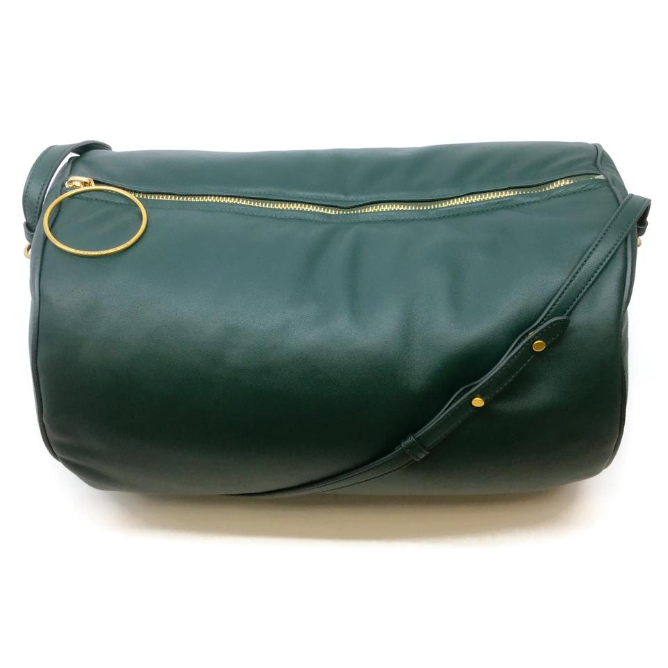 Stella McCartney Duffle Round Green Faux Leather Weekender