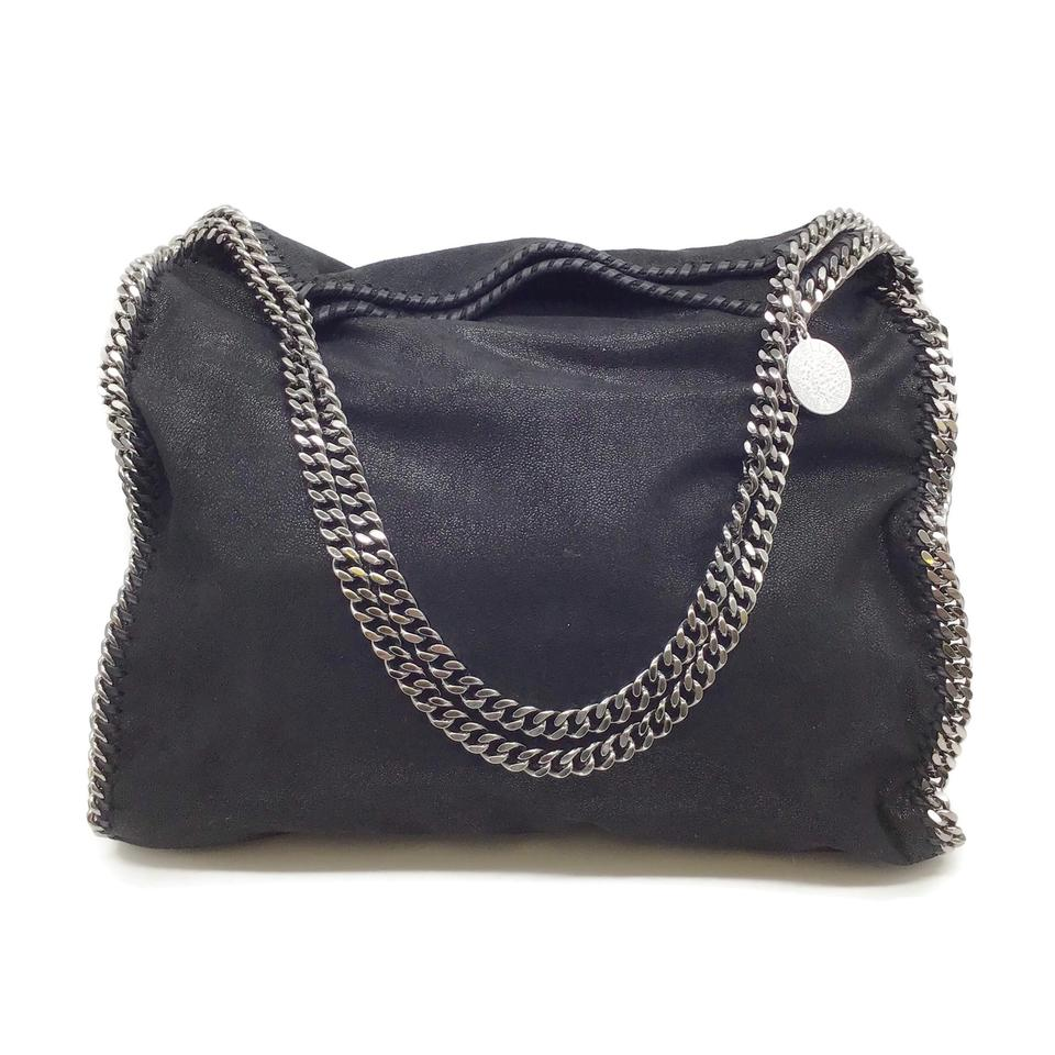Stella McCartney Shaggy Deer Falabella Black Faux Leather Tote