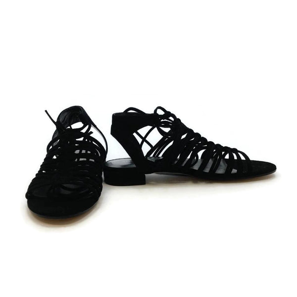Stuart Weitzman Black Knot Again Sandals