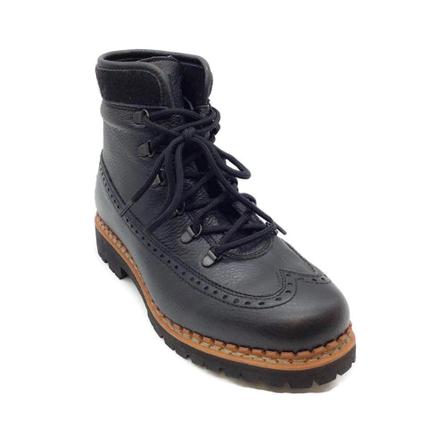 Tabitha Simmons Black Leather Bexley Combat Boots
