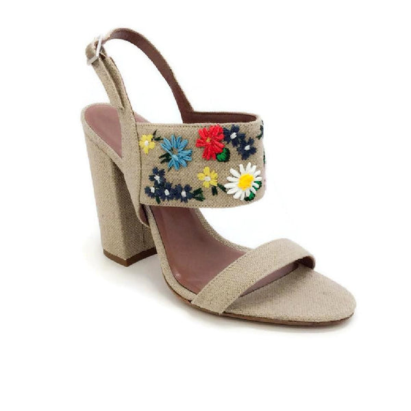 Senna Meadow Linen / Multi Sandals by Tabitha Simmons