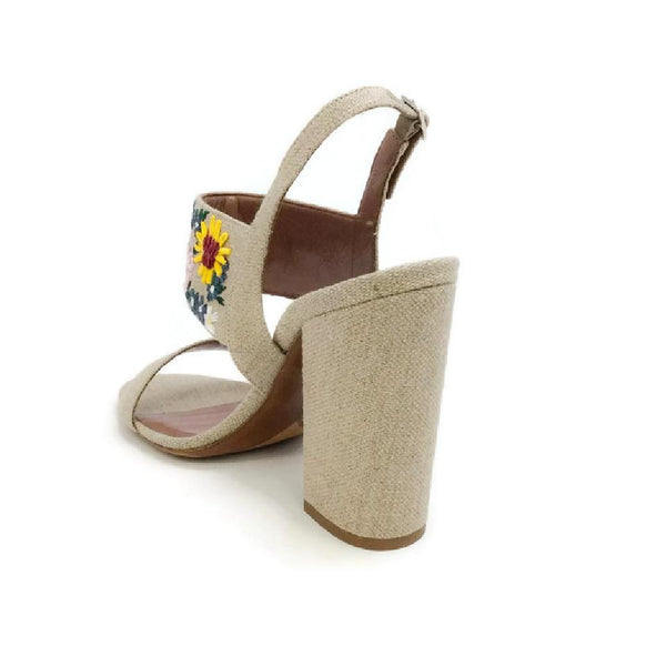Senna Meadow Linen / Multi Sandals by Tabitha Simmons back