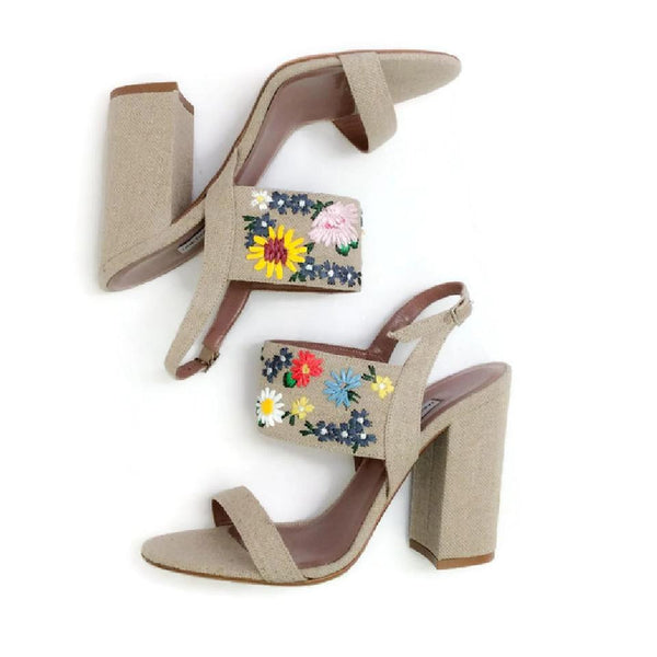 Senna Meadow Linen / Multi Sandals by Tabitha Simmons pair alternate