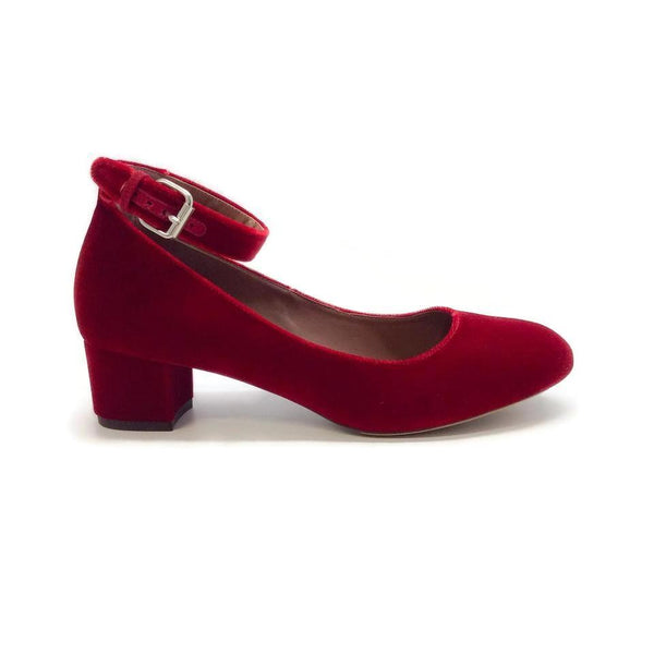 Tabitha Simmons Red Martha Pumps
