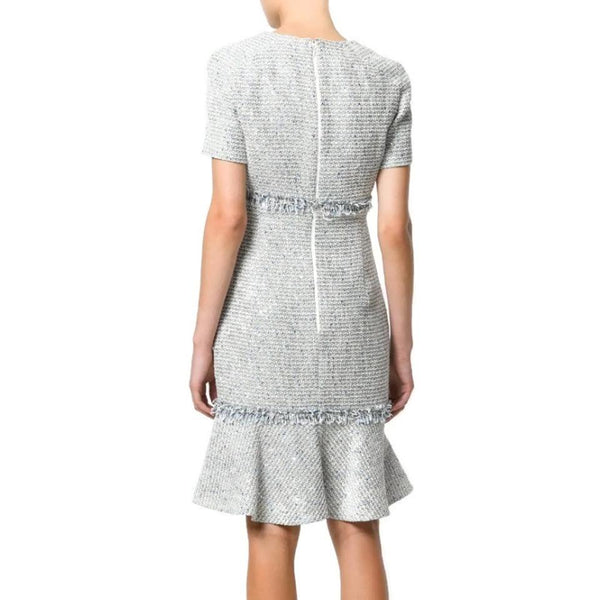 Talbot Runhof Blue / White Polyanna1 Dress