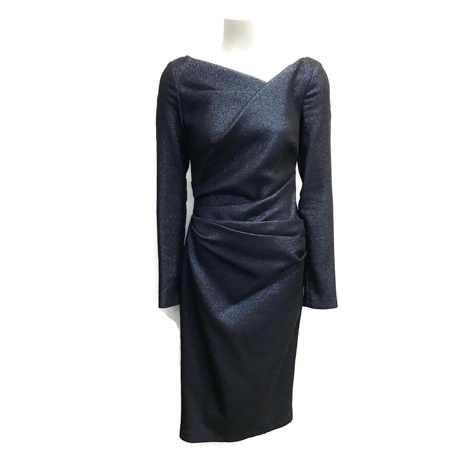 Talbot Runhof Navy Shimmer Dress