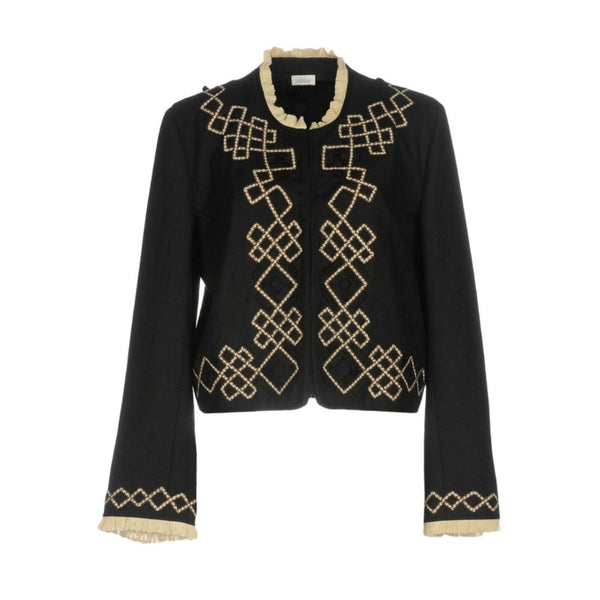 Talitha Black Embellished Trim Jacket
