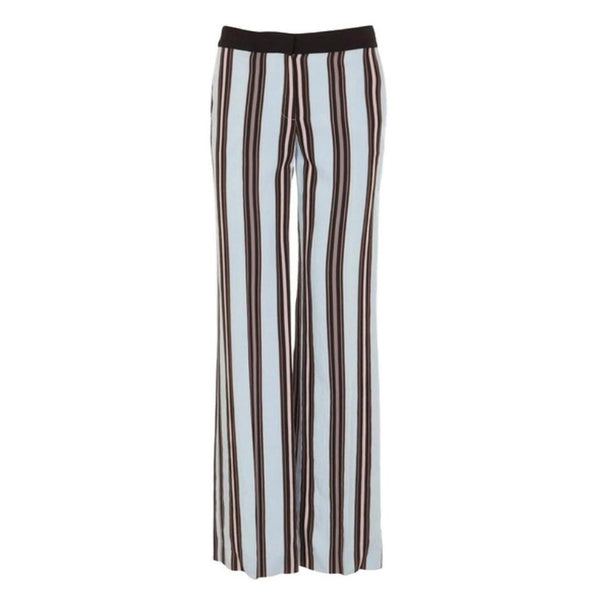 Tara Jarmon Light Blue Striped Pants