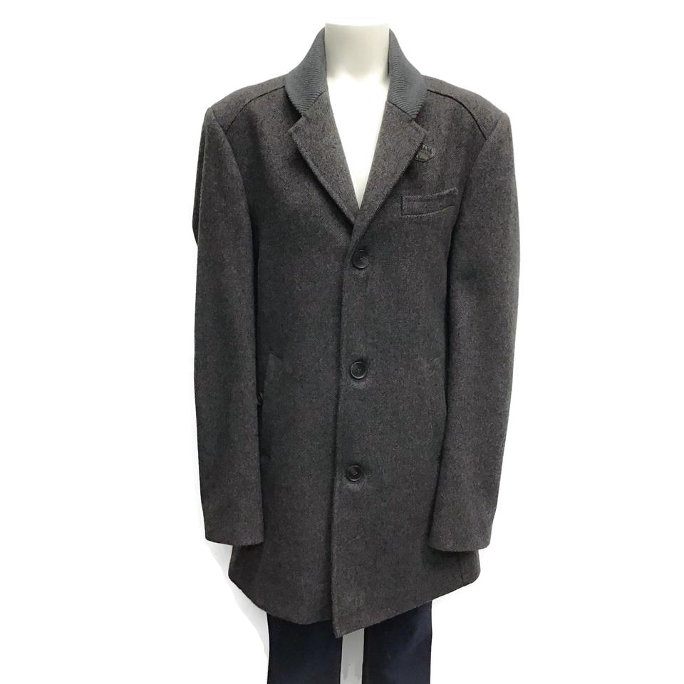 Ted Baker Brown Men's Tweed Coat