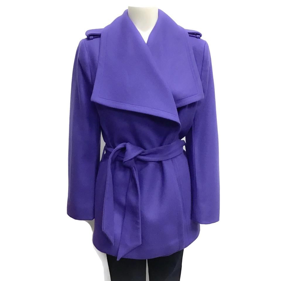 Ted Baker Purple Wool Wrap Coat
