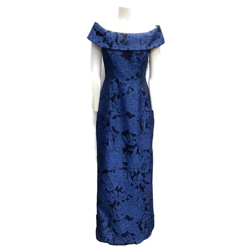 Teri Jon Blue/Black Brocade Dress