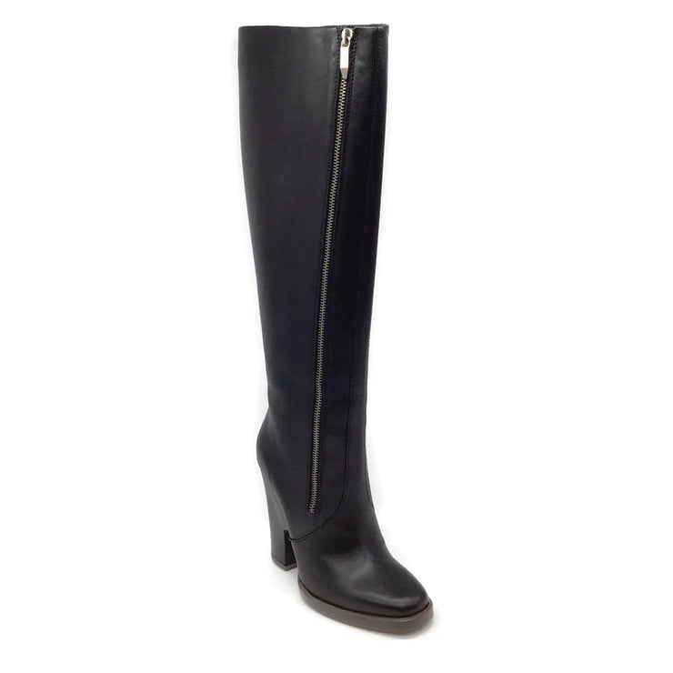 Theory Black Eames Leather Knee High Boots