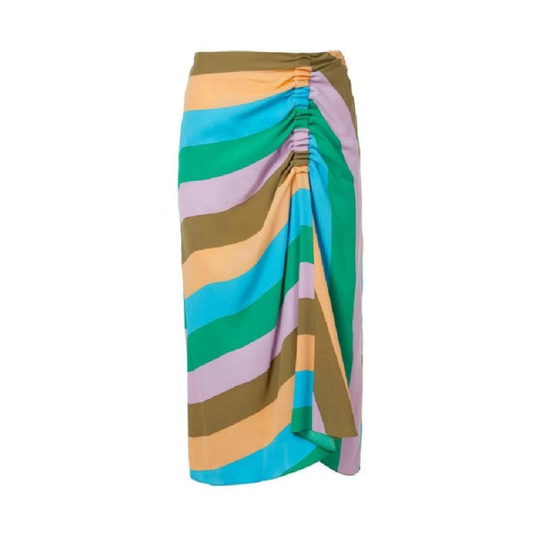 Tibi Rugby Multi Julian Stripe Skirt